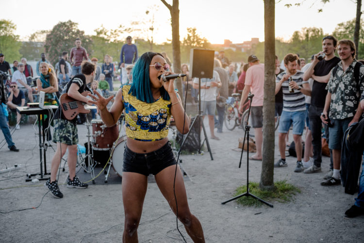 Yetundey band at Mauerpark Berlin